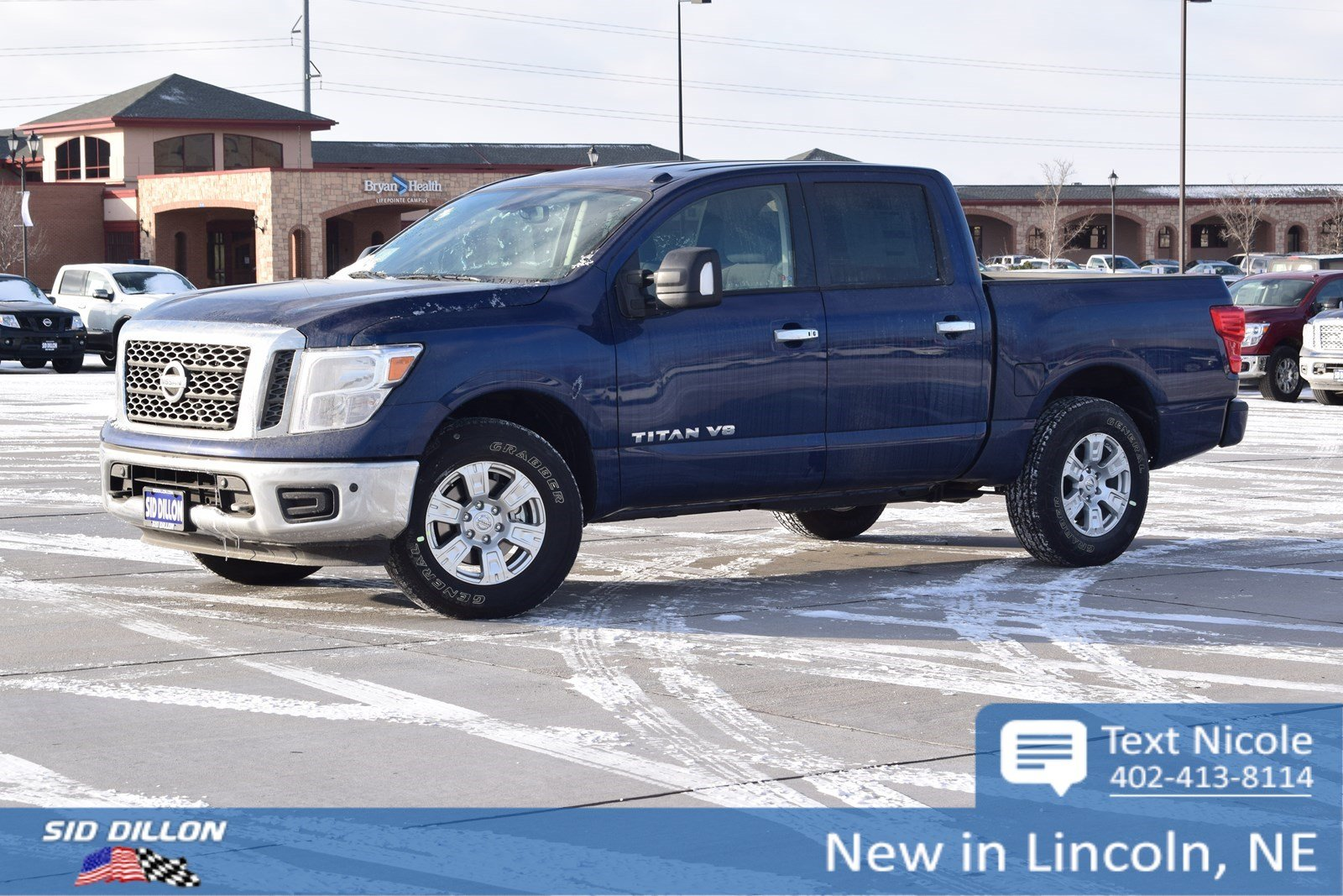 New 2018 nissan titan sv crew cab in lincoln #4n18151 sid dillon
