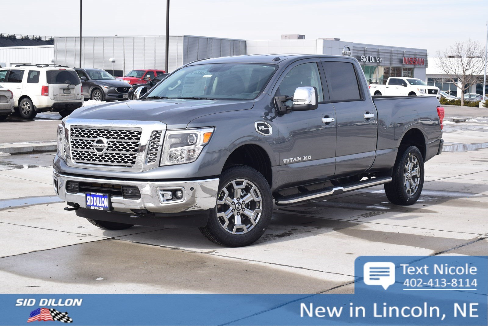 new 2018 nissan titan xd sl crew cab in lincoln 4n18205 sid dillon auto group. Black Bedroom Furniture Sets. Home Design Ideas