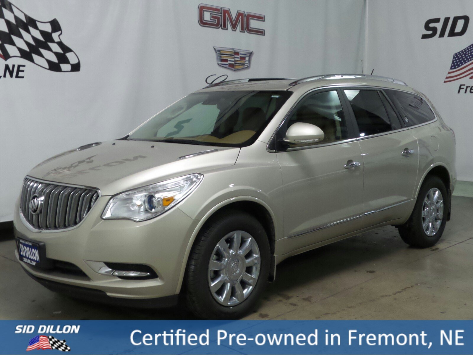 certified pre owned 2014 buick enclave premium suv in fremont 2u14931 sid dillon auto group. Black Bedroom Furniture Sets. Home Design Ideas