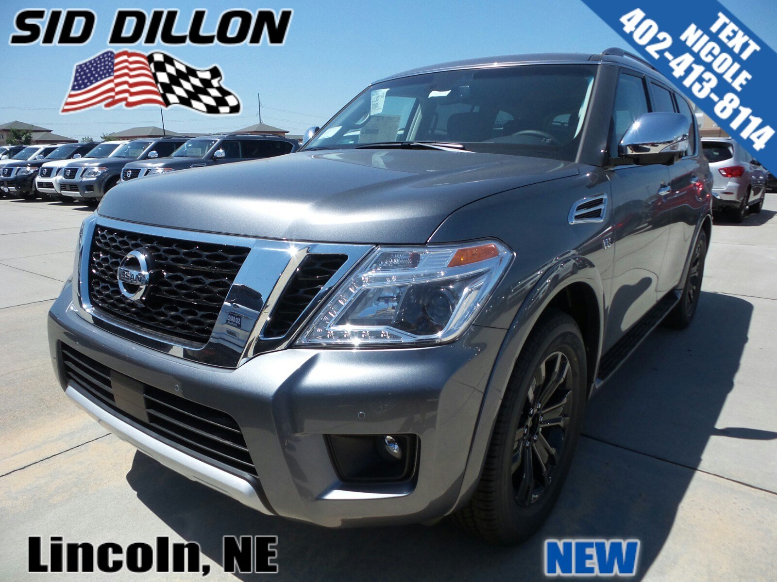 new 2017 nissan armada platinum suv in lincoln 4n17986. Black Bedroom Furniture Sets. Home Design Ideas
